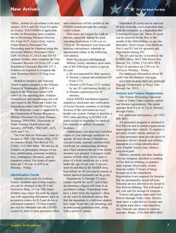 Fort Belvoir Post Guide & Directory - 2011 by Fort Belvoir DFMWR ...