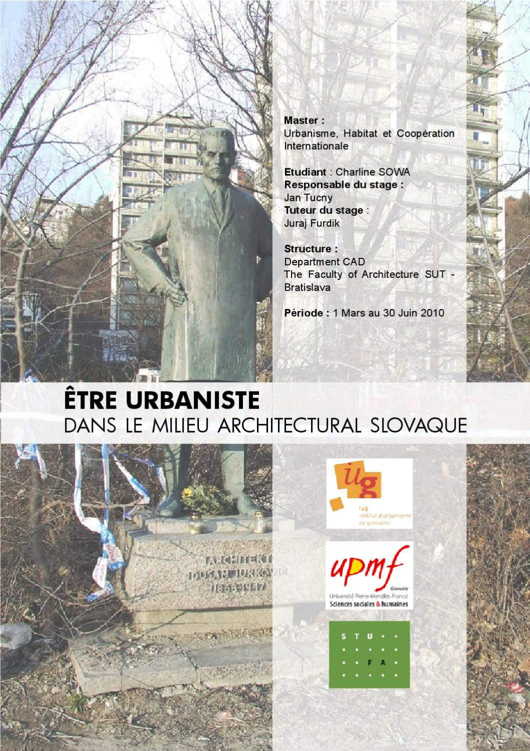 Rapport de stage tre urbaniste dans le milieu architectural slovaque by charline sowa issuu - Prenom charline ...