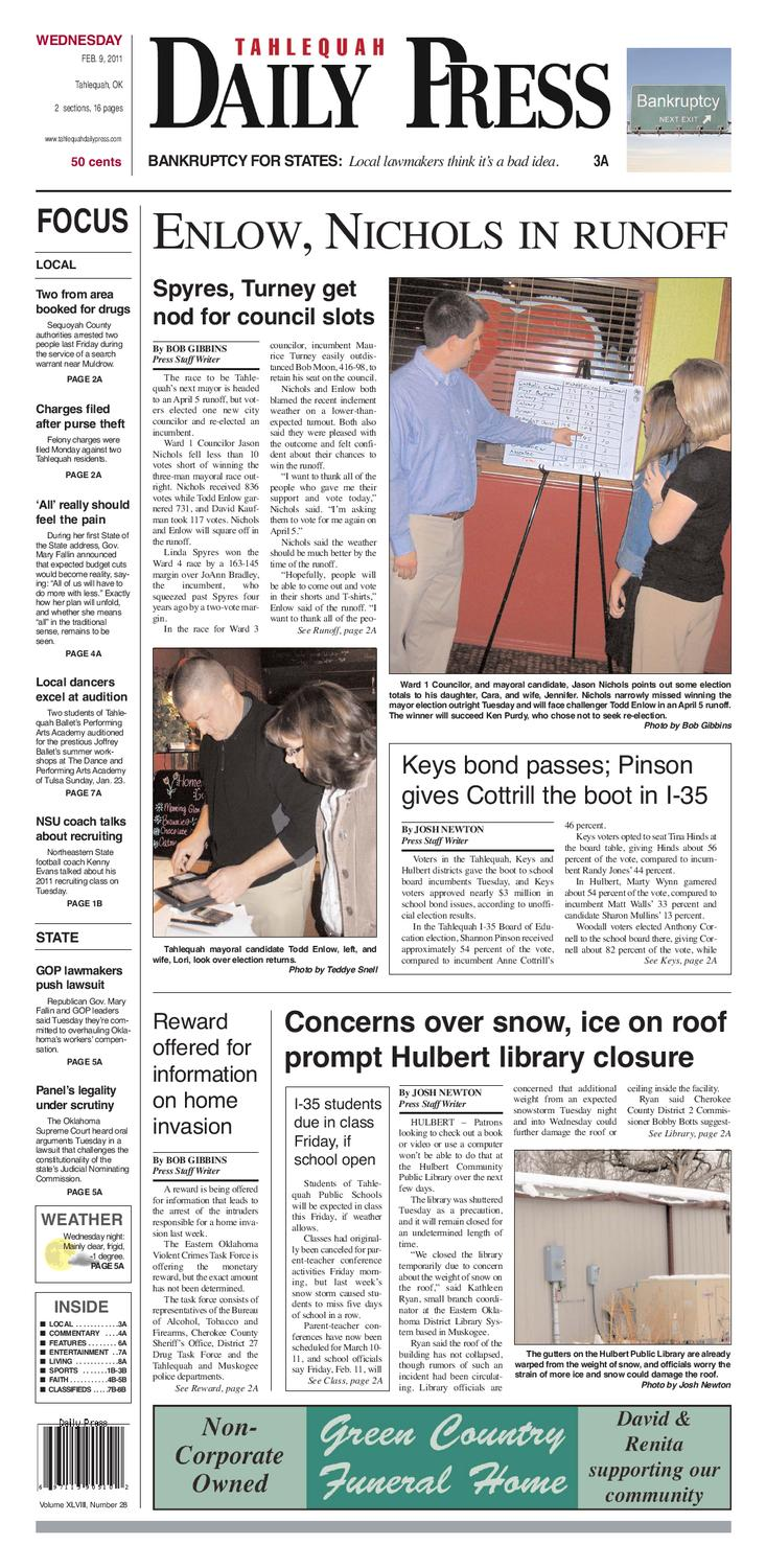 Feb  9 Daily Press by Tahlequah Daily Press - issuu