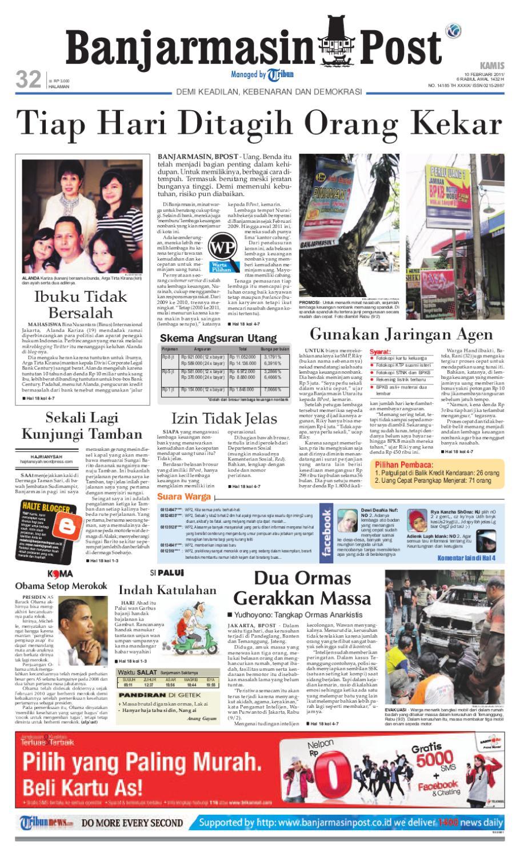 Banjarmasin Post Edisi Kamis 10 Februari 2011 by Banjarmasin Post - issuu f755b8db64
