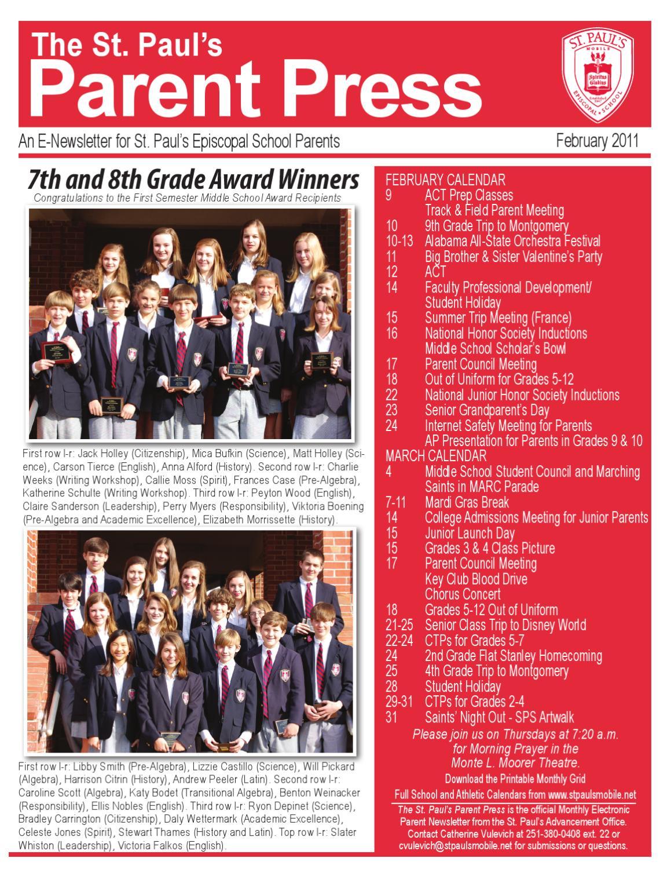 The St  Paul's Parent Press by St  Paul's Episcopal School