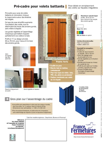 precadre volet battant france fermetures 01 2010 by cr e. Black Bedroom Furniture Sets. Home Design Ideas