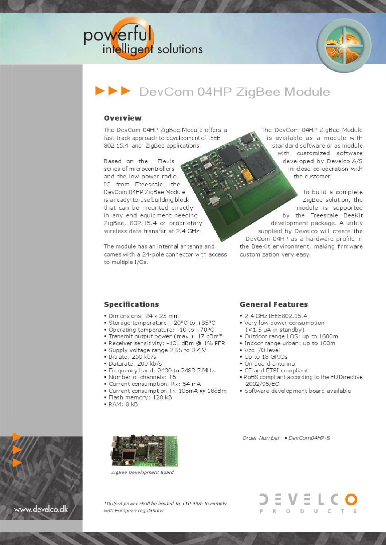 Devcom04hp Zigbee Module By Develco Products Issuu Circuit Diagram Of