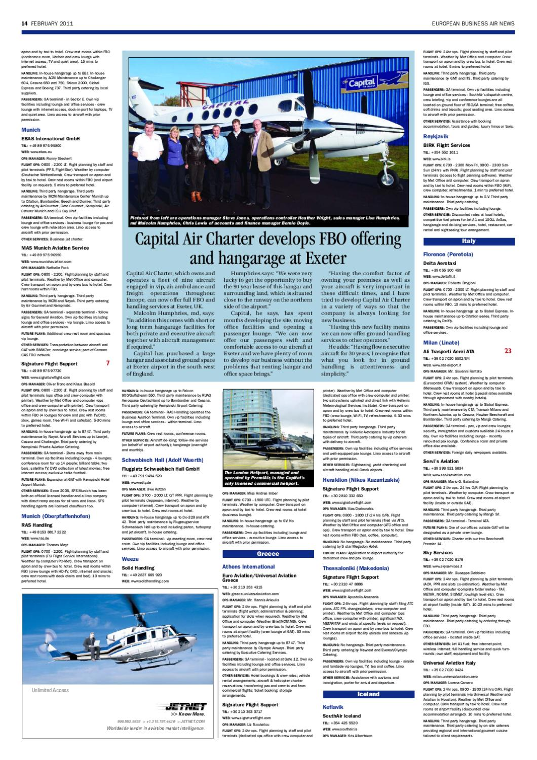 European Business Air News February 2011 by Stansted News