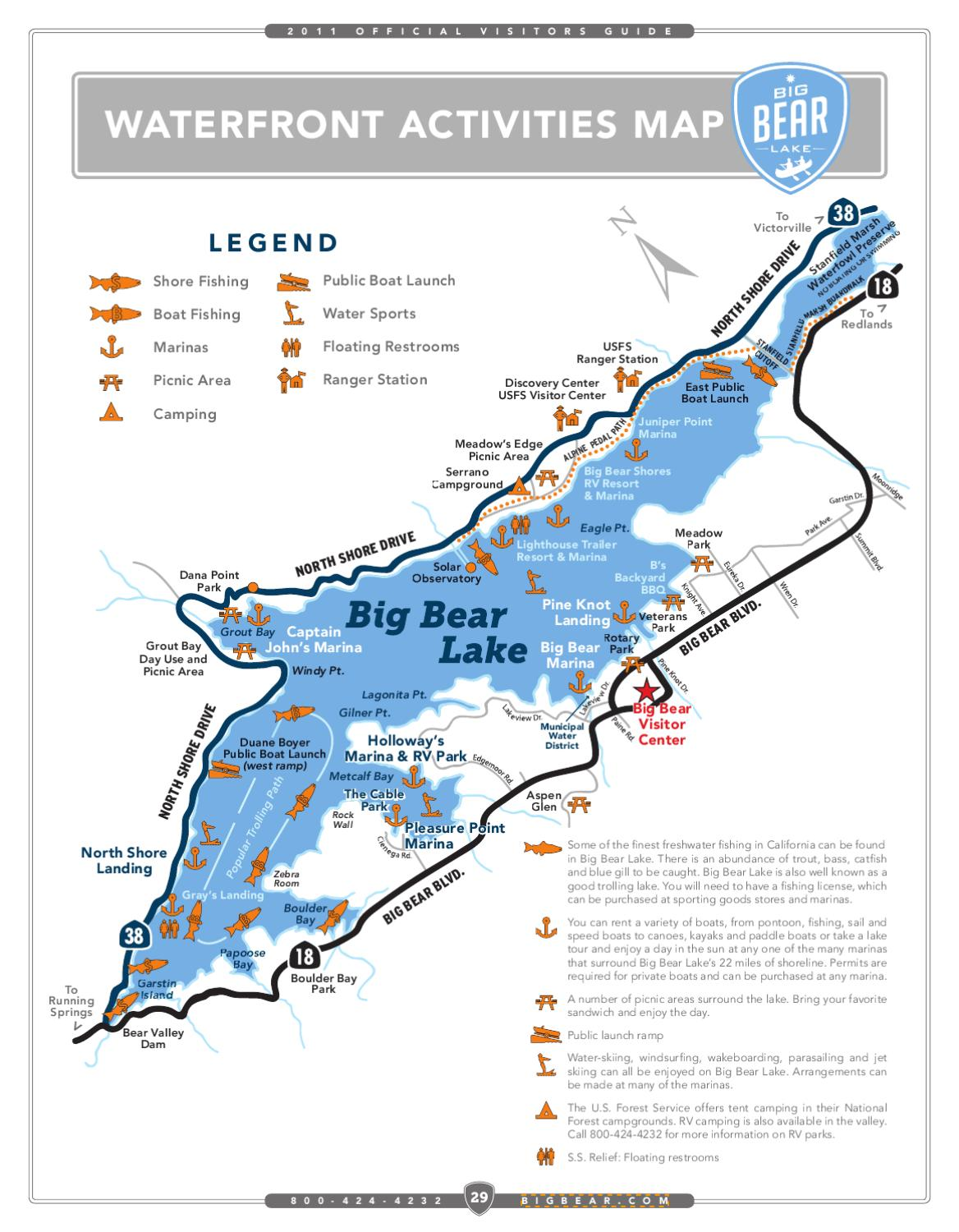 big bear lake fishing map Big Bear Lake By Big Bear Visitors Bureau Issuu big bear lake fishing map