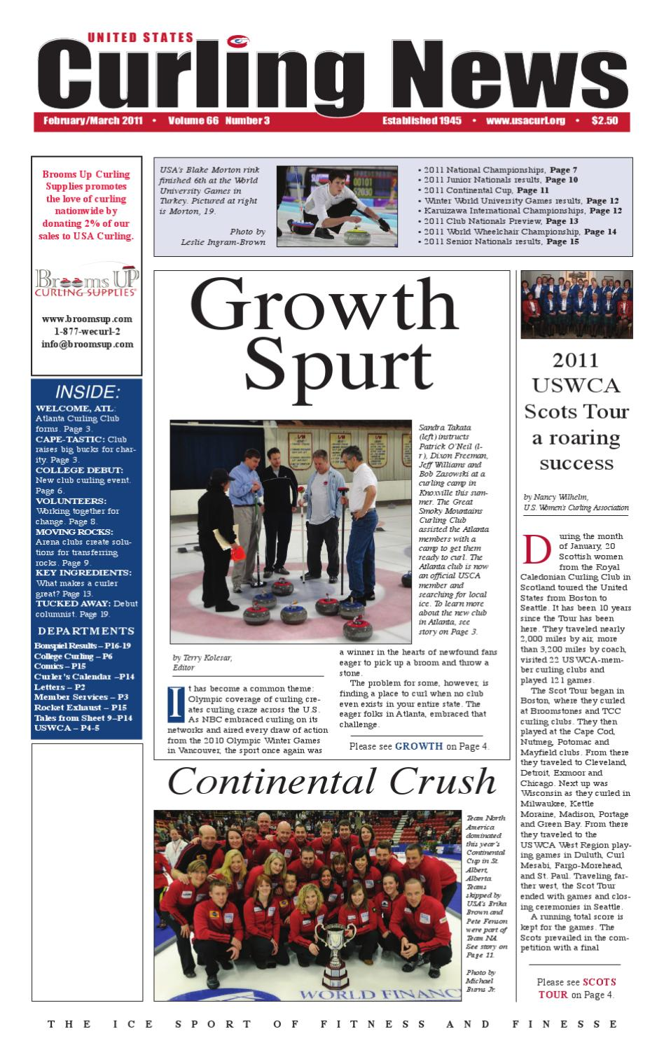 Us Curling News February 2011 By Usa Curling Issuu