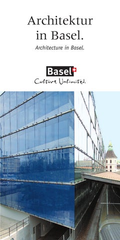 Architektur in basel by basel tourism issuu - Architektur basel ...