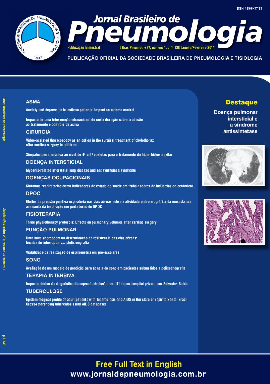 746664889 Jornal Brasileiro de Pneumologia - Volume 37 - Número 1 (Janeiro/Fevereiro)  - Ano 2011 by Jornal Brasileiro Pneumologia - issuu