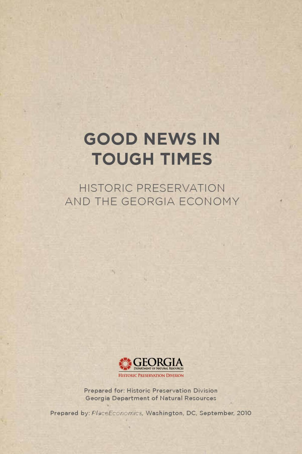 Good news in tough times by historic preservation division good news in tough times by historic preservation division georgia dnr issuu xflitez Choice Image