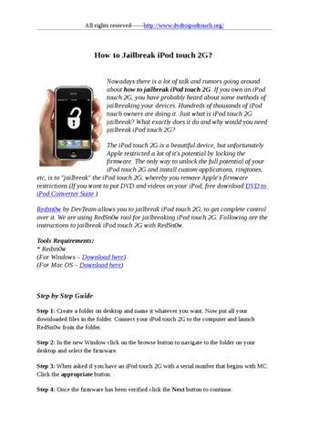 Jailbreak iPod touch 2G by stafenia sun - issuu