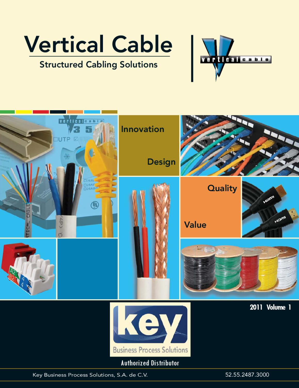Vertical Cable By Key Business Process Solutions Sa De Cv Issuu 19inch Cat6 Utp Patch Panel T568a T568b Wiring 1ru 110 Termination