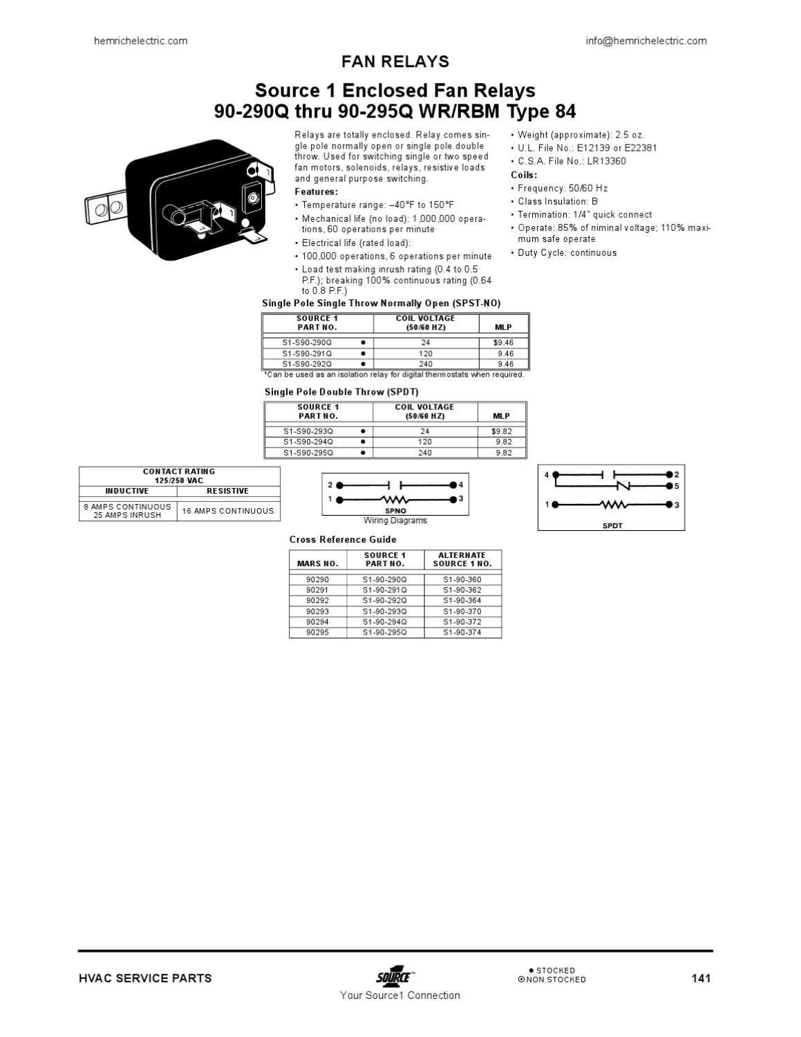 source1 hvac parts and supply by hemrich electric issuu Relay Schematic Wiring Diagram 90 341 relay switch wiring diagram