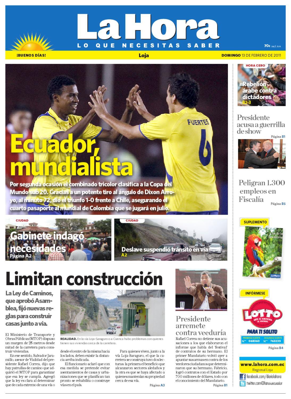 Diario La Hora Loja 13 De Feb De 2011 By Diario La Hora Ecuador  # Muebles Hijos De Rafael Bandera Vivar