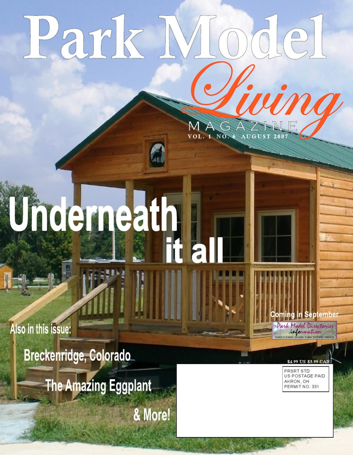 Park Model Living August 2007 By Peter Gauthier Issuu