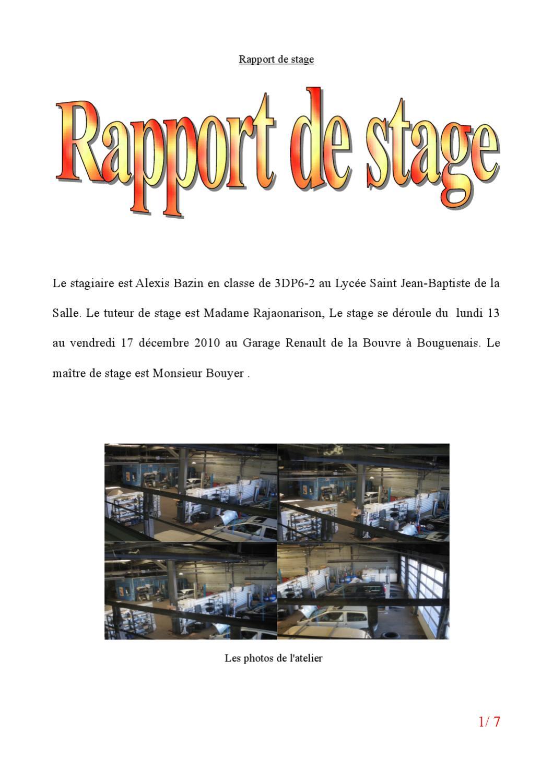 Rapport de stage by alexis bazin issuu for Garage bouyer bouguenais
