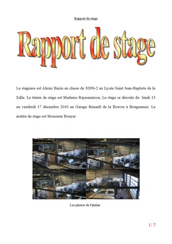 rapport de stage by alexis bazin issuu. Black Bedroom Furniture Sets. Home Design Ideas