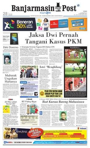 Banjarmasin Post Edisi Senin 14 Februari 2011 by Banjarmasin Post ... d74bd3656a