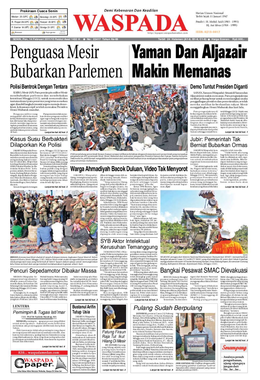 Waspada Senin 14 Februari 2011 By Harian Waspada Issuu