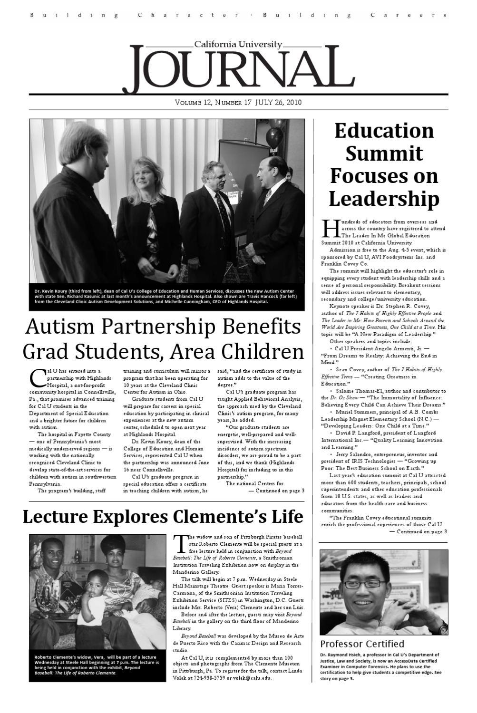 2010july26journaldraft web by California University of