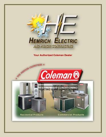 coleman hvac equipment 2011