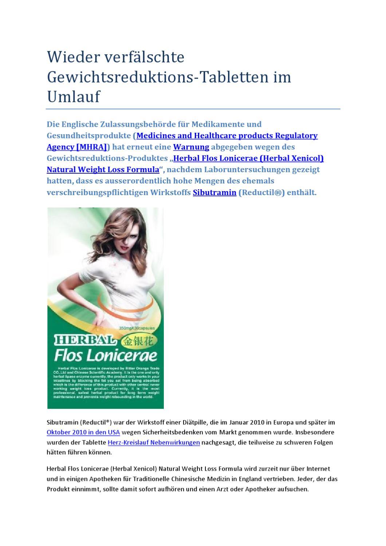 Sibutramin Medikamente zur Gewichtsreduktion