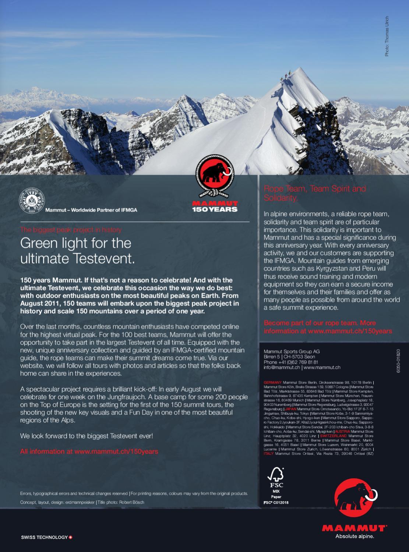 4a308957cca991 Mammut Summer Flyer 2011 (Climbing) by Mammut Sports Group - issuu