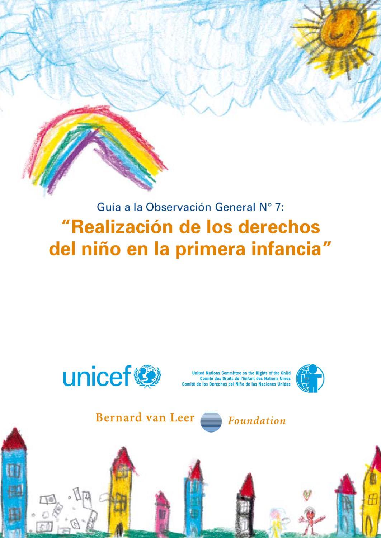 Realización de los derechos del niño en la primera infancia by ...