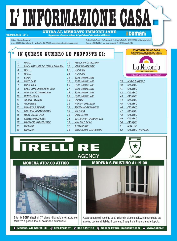Informazione casa modena febbraio by fede dd issuu for Tondelli arredamenti modena