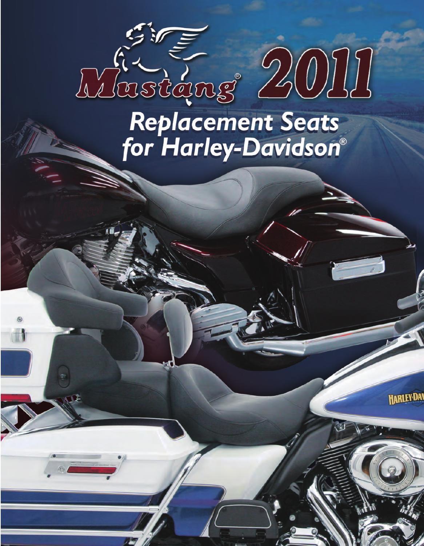Mustang Saddlebag Lid Covers 77600 Black Studs for Harley Touring Road King