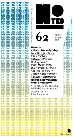 20f6e0a83 notes.na.6.tygodni #62 by Fundacja Bęc Zmiana - issuu