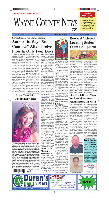 Wayne County News 02-16-11