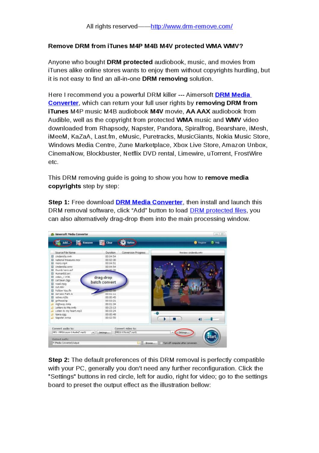 Remove DRM from iTunes by katrina Jin - issuu