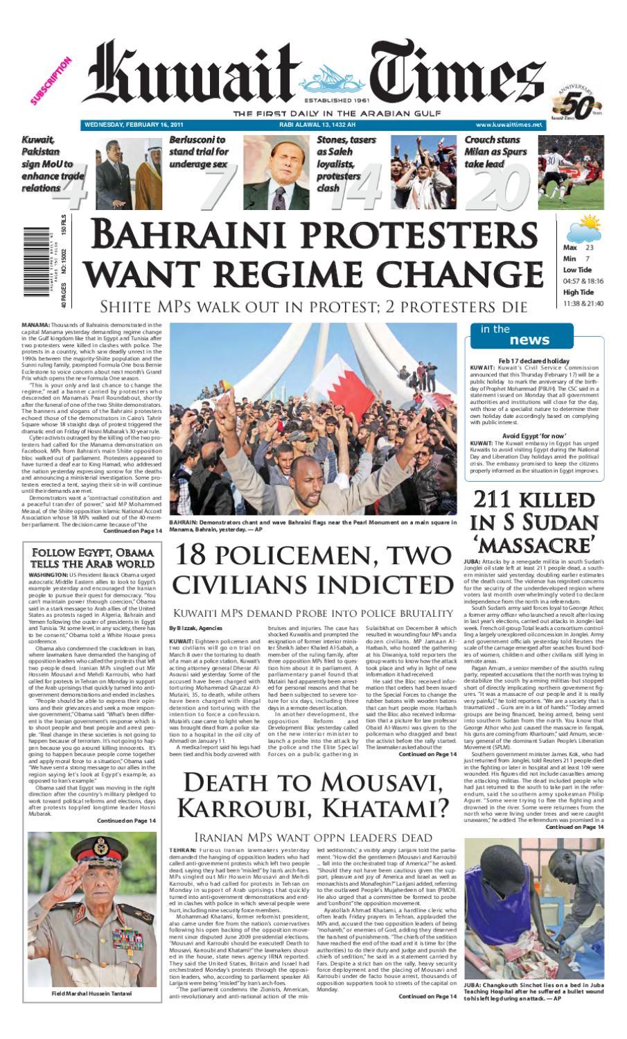 16 Feb By Kuwait Times Issuu
