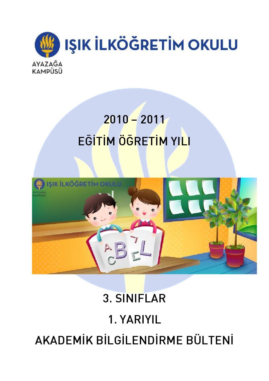2010 2011 Egitim Ogretim Yili 3 Siniflar 1 Yariyil Akademik
