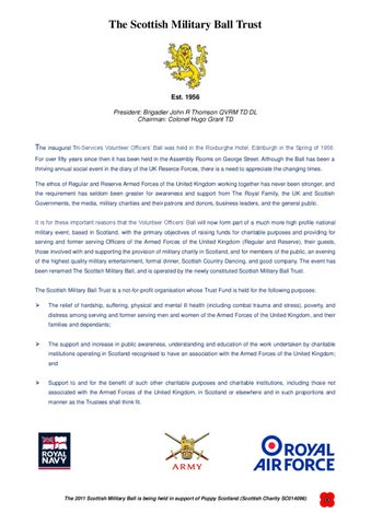 The Scottish Military Ball Invitation By The Royal Regiment Of