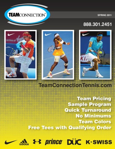 231ead52f14d3 2011 Spring Tennis Catalog- High School Pricing by Team Connection ...