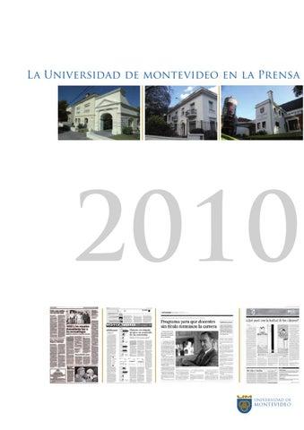 La Universidad de Montevideo en la prensa 2010 by Universidad de ... de642dcb50bd6