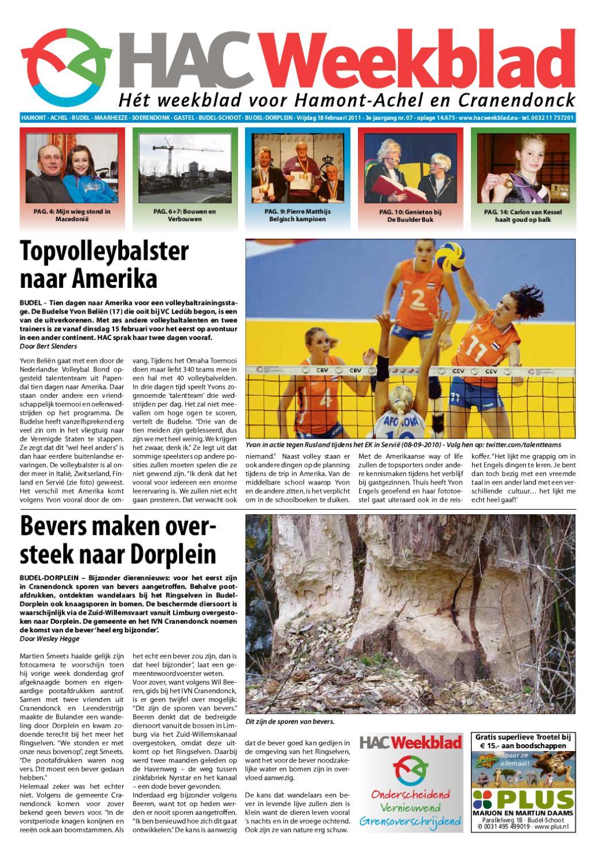 e0389c397f73bd HAC Weekblad week 07 2011 by HAC Weekblad - issuu