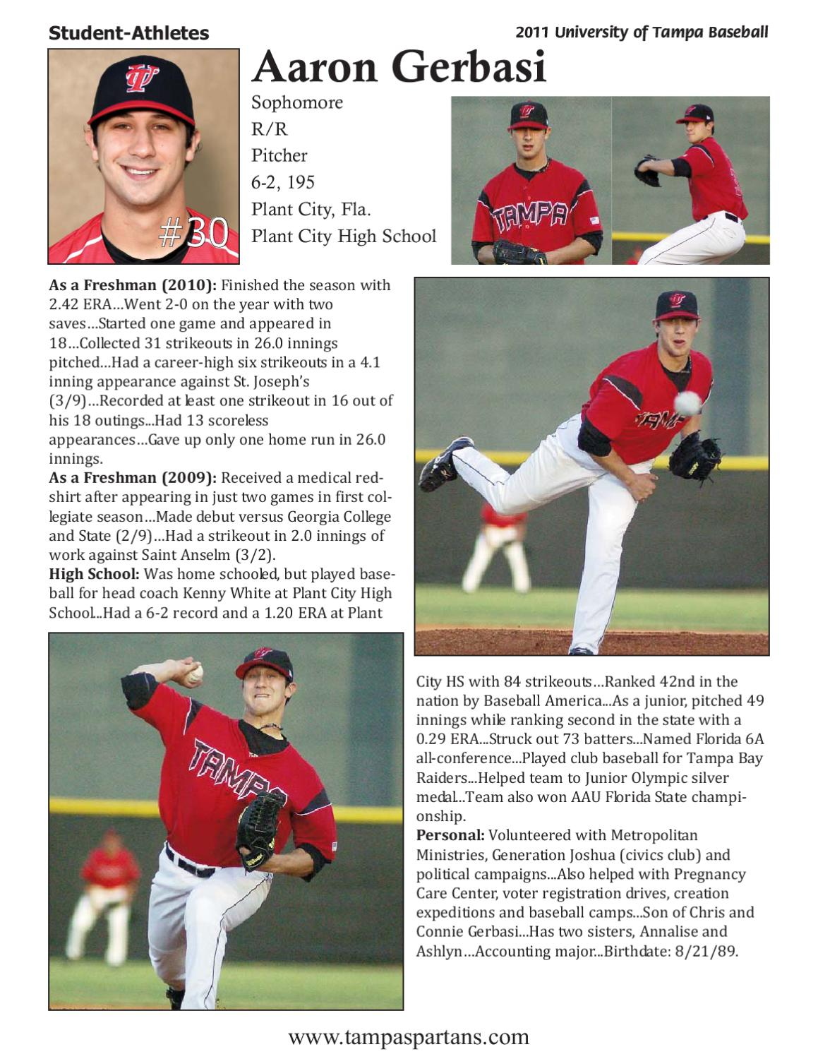 2011 University Of Tampa Baseball Media Guide By Athletics