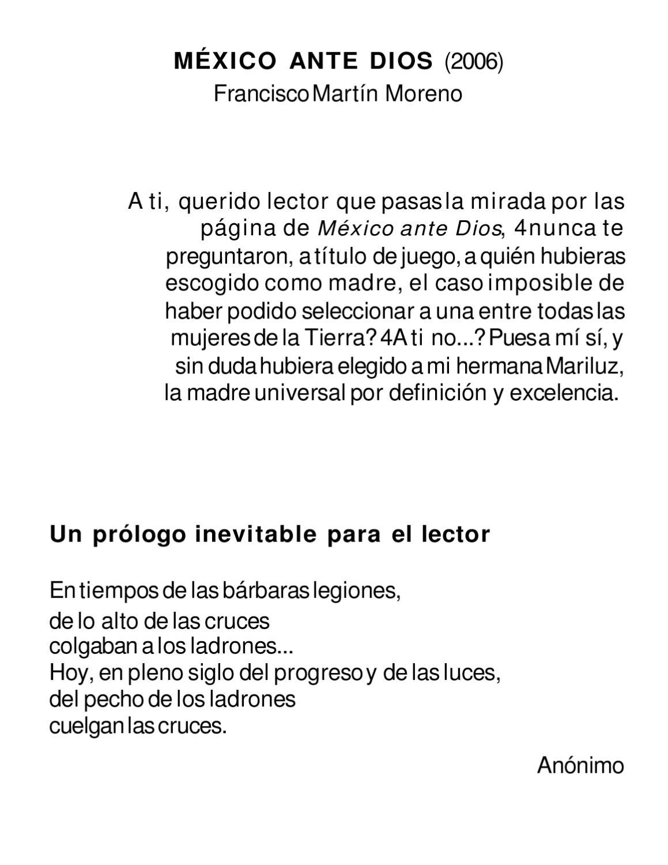 México ante Dios by manuel vazquez - issuu