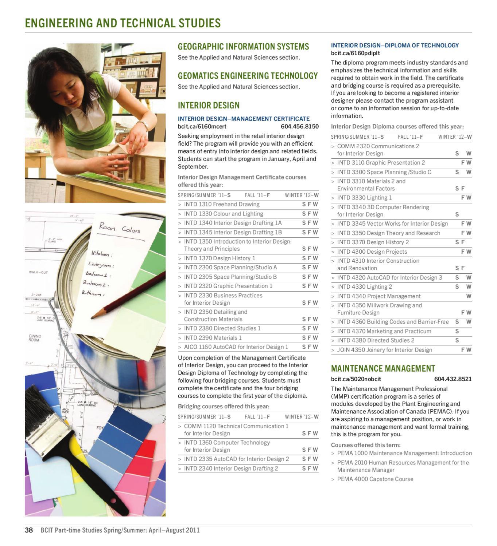 BCIT Part Time Studies Flyer