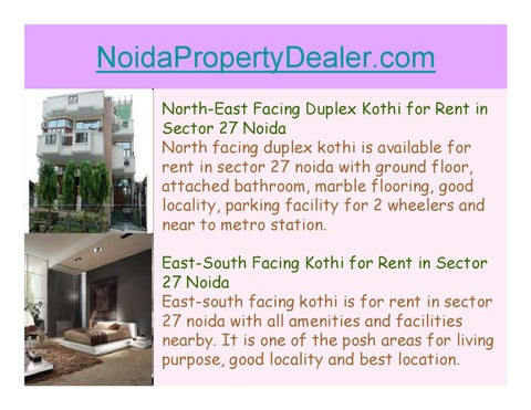 Duplex Kothi facing east for Rent in Noida Sector 27 by parul 1234