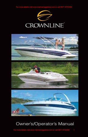 crownline owner s manual by marine mega store ltd issuu rh issuu com