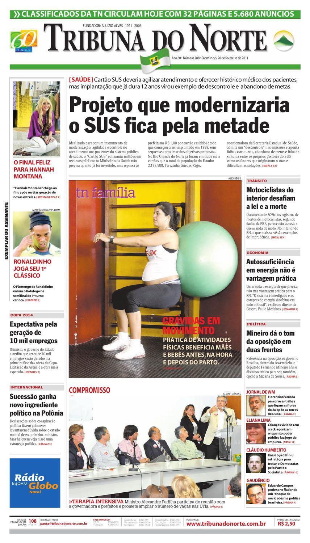 5c7be5434a965 Tribuna do Norte - 20 02 2011 by Empresa Jornalística Tribuna do Norte Ltda  - issuu