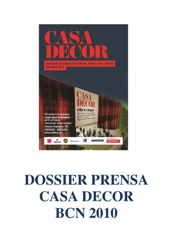 2010 Bcn Clipping By Casa Press Decor Issuu zMVqSUpG