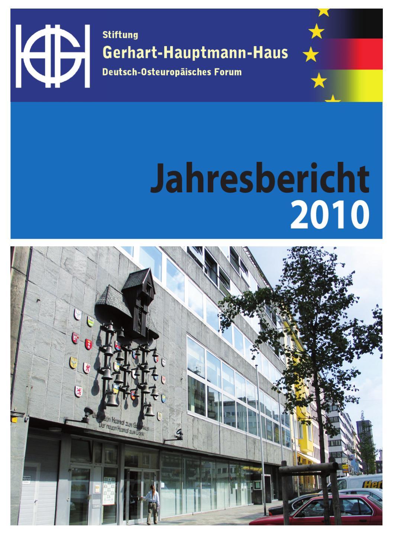 Jahresbericht 2010 By Stiftung Gerhart Hauptmann Haus Issuu