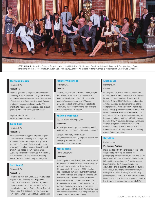 3rd Annual Rva Fashion Week By Richmond Magazine Issuu