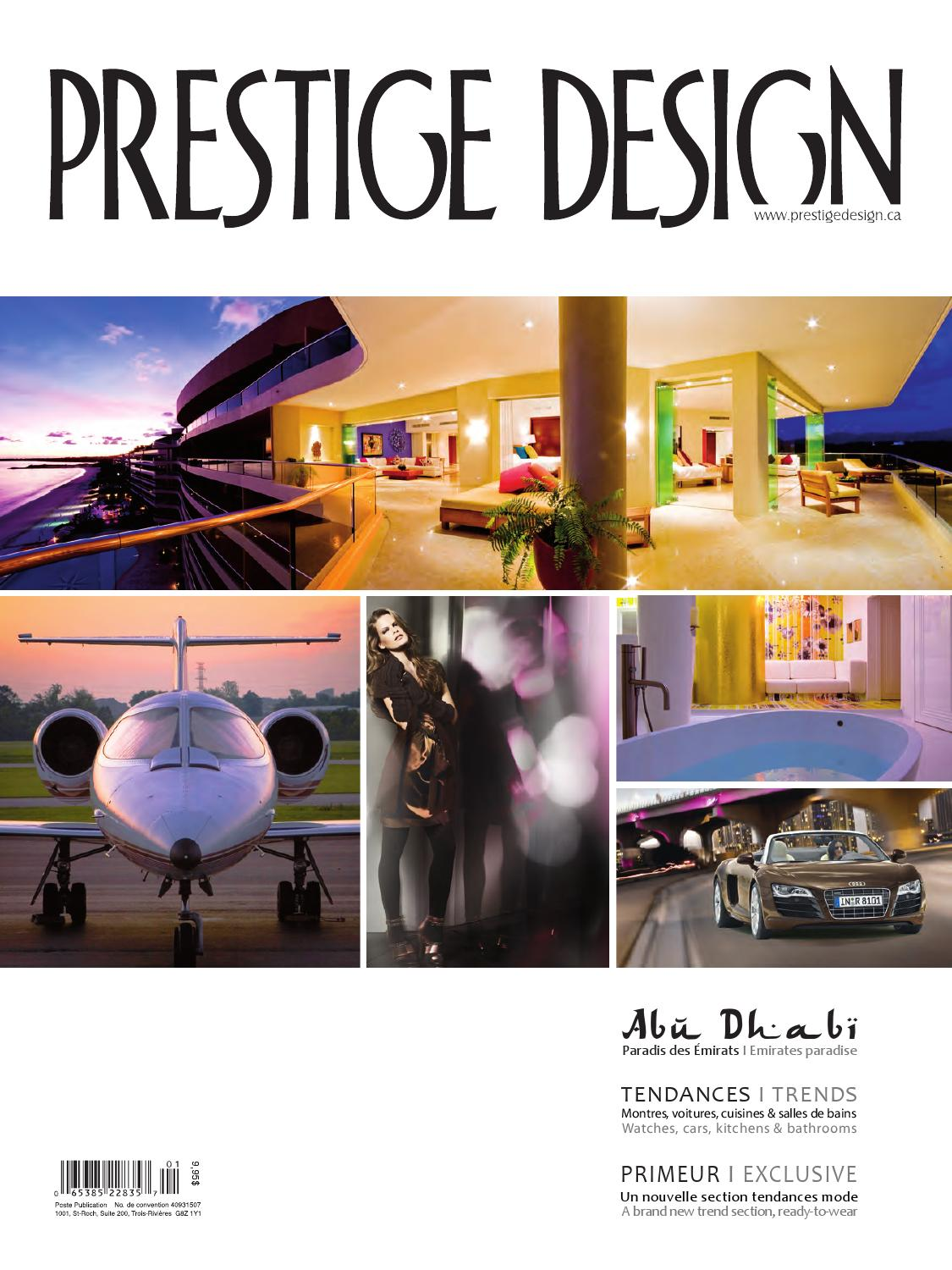 Prestige design magazine vol 8 num 1 by prestige design for Meubles montreal decarie