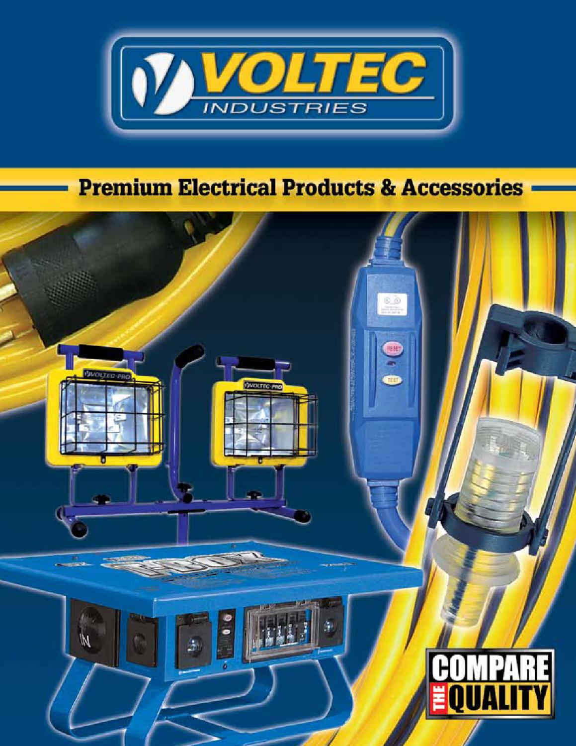 Voltec Power Lighting Products By Industries Issuu Extension Cord 30 Rv Wiring Diagram On Amp 3 Pole 4 Wire 600v