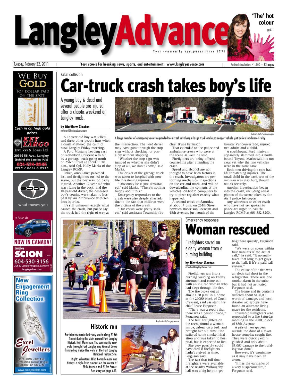 Langley Advance - February 22, 2011 by Postmedia Community Publishing -  issuu